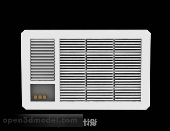 White Air Conditioner Outdoor Unit