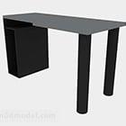 Tummanharmaa maali minimalistinen työpöytä