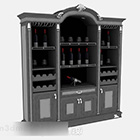 Antique Home Wine Cooler Cabinet