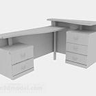 Harmaa maali Office Desk V1