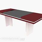 Punainen maali toimistopöytä V1
