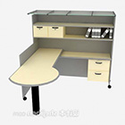 Gray Paint Mdf Wooden Desk
