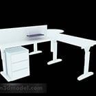 Valkoinen yksinkertainen työpöytä