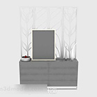 Office Cabinet With Screen Decoration