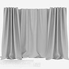 Gray Realistic Curtain