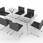 Lasinen ruokasali pöytätuoli
