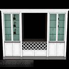 خزانة عرض باللون الأبيض