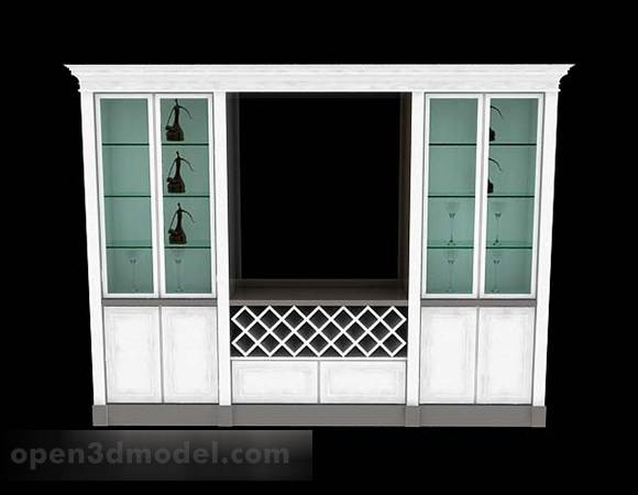 White Paint Home Display Cabinet
