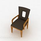 Ahşap Gri Döşemeli Ev Sandalyesi