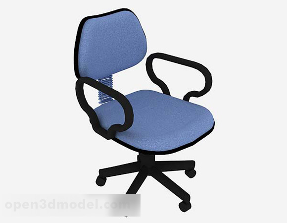 Blue Common Office Wheels Chair