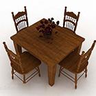 Tavolo da pranzo in legno design sedia