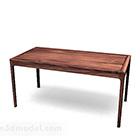 Yksinkertainen puinen työpöytä