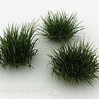 שלושה שיחי דשא ירוקים