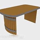Ruskea puu -pöytä