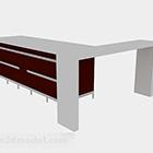 Red Office Corner -pöytä
