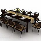 صندلی ناهار خوری قهوه ای چوبی ساده