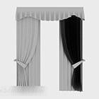 Grå gardindesign V1