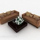 Brown Combination Sofa Design