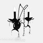 Czarna świecznik Lampa V1