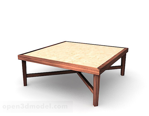 Square Wooden Coffee Table V3 Free 3d Model Max Open3dmodel 345478