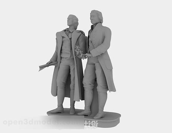 Figure Sculpture Gray Color
