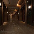 Indoor Elevator Corridor Interior