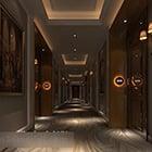 Luksusowe wnętrze korytarza hotelu