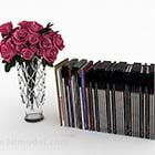Vas Bunga Merah Dengan Buku