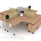 Design a 4 posti con scrivania e sedia
