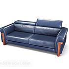 الأريكة المزدوجة الرئيسية الأمريكية الزرقاء