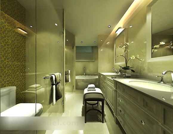 Bathroom Glass Partition Interior 3d Model Max Vray Open3dmodel 322702