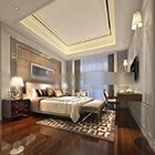 Interno di una camera da letto di grandi dimensioni