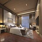 الحداثة تصميم غرفة النوم الداخلية