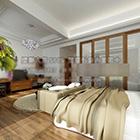 Wnętrze sypialni w czystym stylu