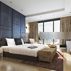 غرفة النوم الرئيسية لفندق الداخلية
