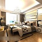 Bedroom Modern Hotel Double Bed Interior