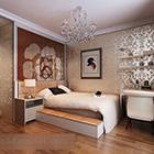 Interno gratuito della camera da letto