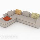 Nábytkový nábytek z béžové tkaniny pro více sedadel