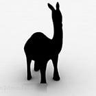 Black Alpaca Sculpture