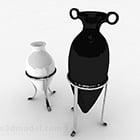 Black White Color Pointed Bottom Vase