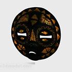ブラックカービングフェイスマスクデコレーション