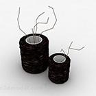 Schwarze Vase Einrichtungsgegenstände