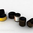黒円筒缶容器