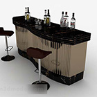 Tavoli e sedie da bar in oro nero