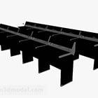 Meubles de table Hall noir