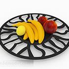 Schwarzer runder hohler Muster-Fruchtbehälter