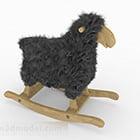 Sedia a dondolo bambino pecora nera