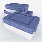 صندوق تخزين باللونين الأزرق والأبيض