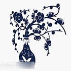 Blue Flower Wallpaper Decoration