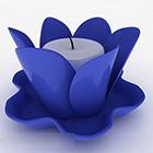 Świecznik w kształcie niebieskiego lotosu